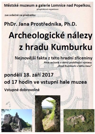 Jan Prostředník poví více o Archeologických nálezech zKumburku
