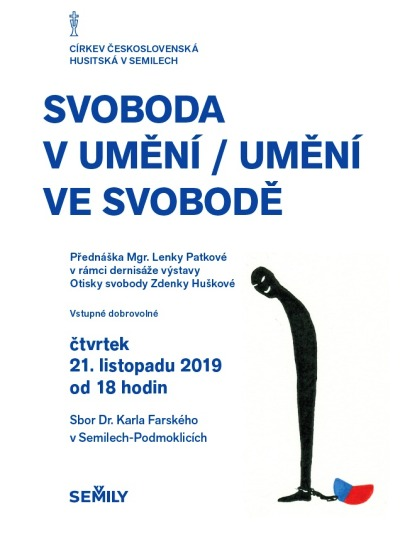 Výstavu Otisky svobody zakončí přednáška Lenky Patkové