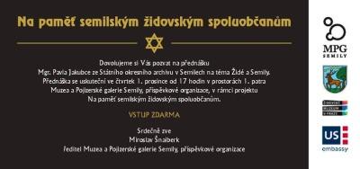 Pavel Jakubec bude přednášet na téma Židé a Semily