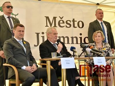 Obrazem: Návštěva prezidenta Zemana v Jilemnici