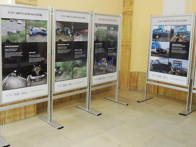 Výstava Stop smrtelným nehodám opět putuje po kraji, začíná v Brodě