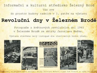 Revoluční dny v Železném Brodě osvětlí výstava Jaroslava Maška