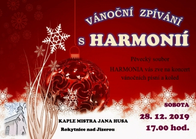 Vánoční zpívání s Harmonií v rokytnické kapli