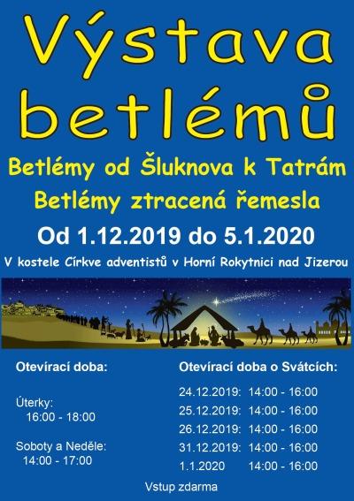 Betlémy od Šluknova k Tatrám ukazuje výstava v Rokytnici