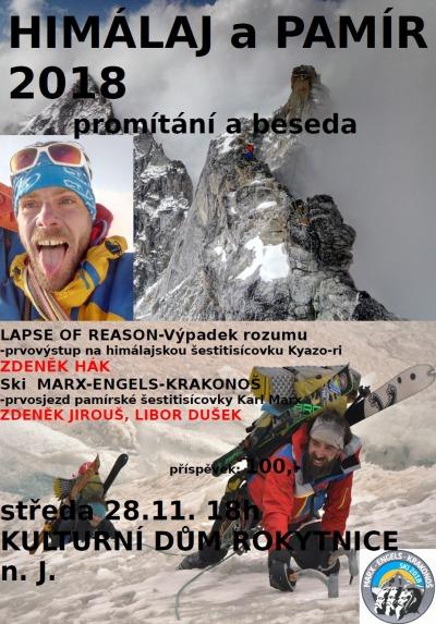 Rokytničtí horolezci budou vyprávět o svých výstupech na velehory