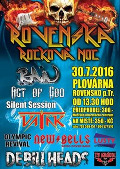 Na Rovenské rockové noci zahrají Rain, Vaťák či DeBill Heads