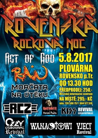 Na Rovenské rockové noci zahrají Rain či Morčata na útěku