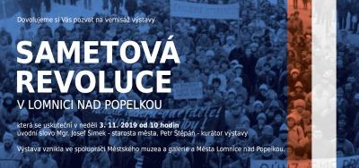 Sametovou revoluci si připomenou výstavou i v Lomnici nad Popelkou