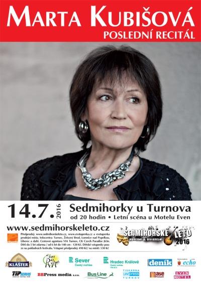 Marta Kubišová zazpívá své hity v Sedmihorkách při posledním recitálu