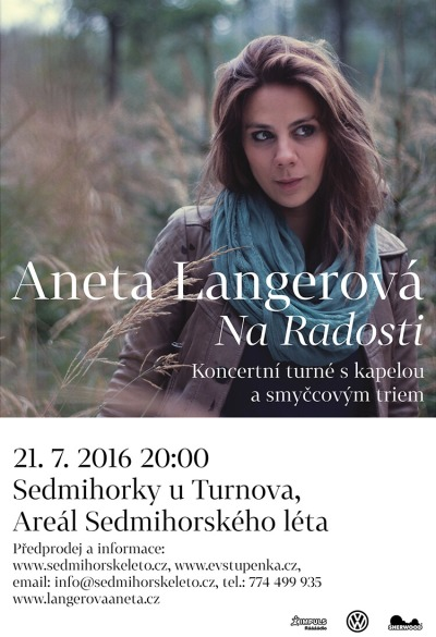 Aneta Langerová vystoupí v Sedmihorkách v rámci turné Na radosti