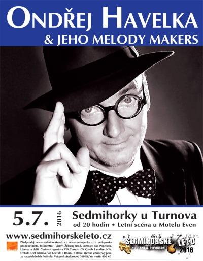 Ondřej Havelka oslaví 20. výročí Melody Makers na Sedmihorském létě