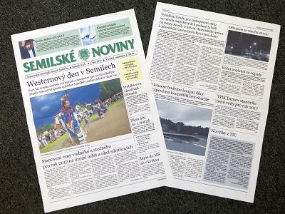 Semilské noviny od května mění svou podobu i formát