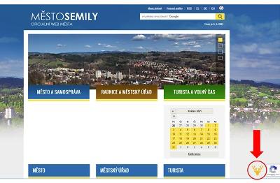 Na webových stránkách města Semily se nově zabydlel jelen Emil