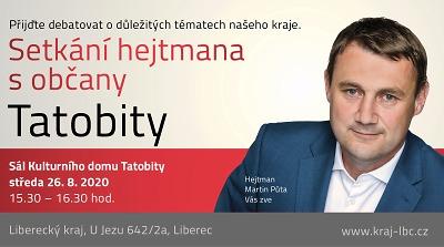 Občané Tatobit se mohou na problémy zeptat přímo hejtmana