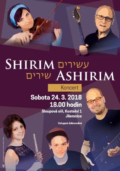 V jilemnické Sloupové síni zazní židovské písně v podání Shirim Ashirim