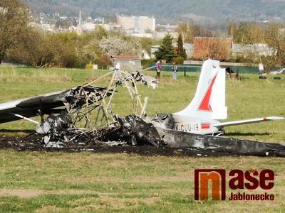 Na libereckém letišti havarovalo malé letadlo