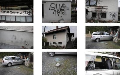 Sprejer zničil fasádu rodinného domu v Pojizeří