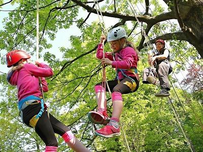 FOTO: Ve vrchlabském parku si děti i dospělí zkoušeli stromolezení