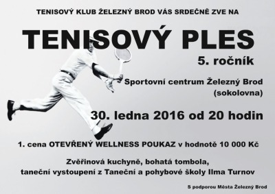 Tenisté v Železném Brodě zvou na 5. ročník svého plesu