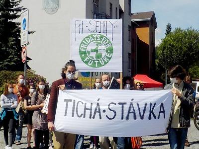 Tichá stávka Friday for Future se konala i v Semilech