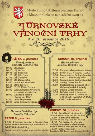 Vánoční trhy na dva dny obsadí náměstí Českého ráje v Turnově