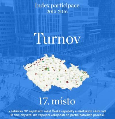 Turnov je vysoko v žebříčku Indexu participace