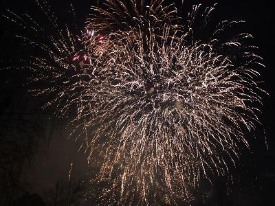 První lednový den 2018 rozzářil Turnov novoroční ohňostroj