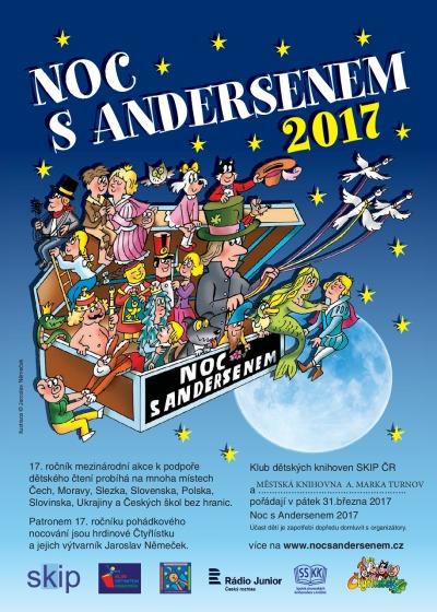Turnovská knihovna připravuje Noc s Andersenem 2017