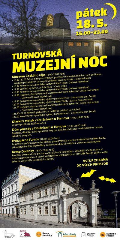 Program Muzejní noci v Turnově 2018
