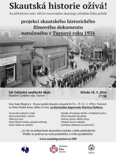 Skautská historie ožije v Turnově při promítání filmového dokumentu