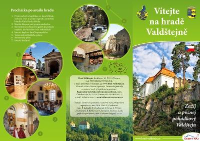 S letní sezonou vydali nový leták hradu Valdštejn