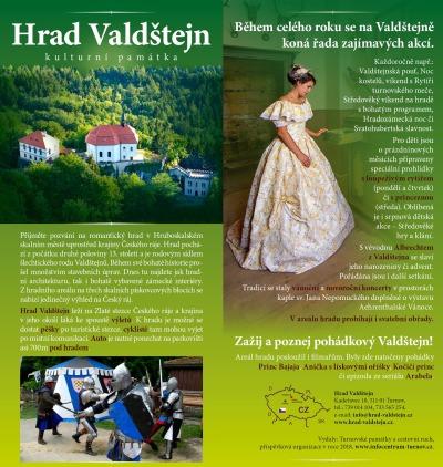 Vydali nový propagační leták hradu Valdštejn