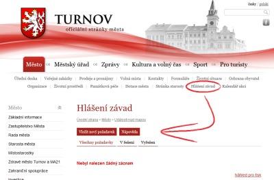 Občané Turnova mohou hlásit závady pomocí nové aplikace