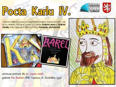 Výstavy k poctě Karla IV. se konají i na Valdštejně a turnovské radnici