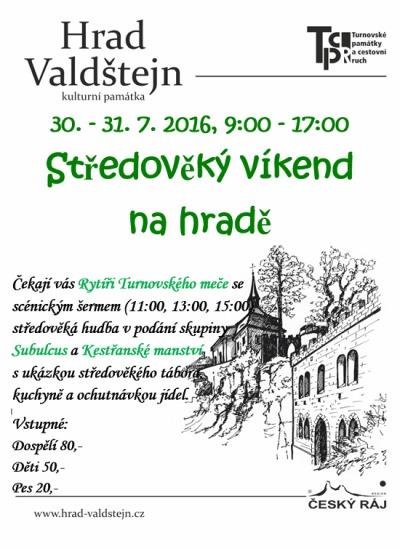 Hrad Valdštejn láká na Středověký víkend
