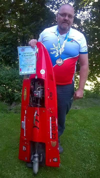 Turnovský lodní modelář Petr Lamač získal v Polsku titul mistra světa