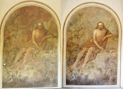 Na Valdštejně dokončili restaurování nástěnné malby sv. Jana Křtitele