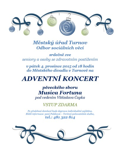 Adventní koncert Musica Fortuna proběhne v turnovském divadle