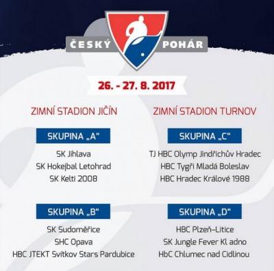 Turnov a Jičín budou hostit Český pohár v hokejbalu