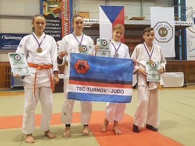 Turnovští mladí judisté třikrát zlatí na mistrovství republiky