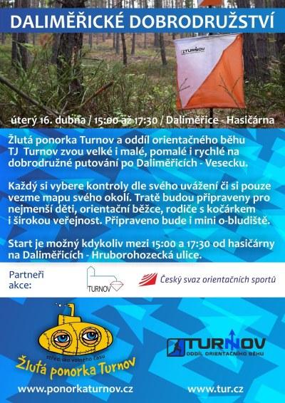 Daliměřické dobrodružství pořádá Žlutá ponorka a orienťáci