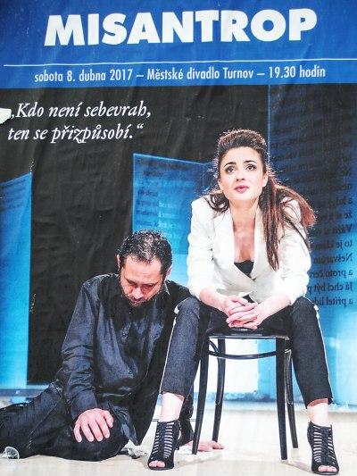 Eva Josefíková a Filip Čapka se v Turnově představí ve hře Misantrop