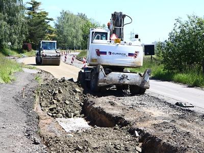 Novinky z rekonstrukce silnice II/610 v Turnově až na hranici kraje