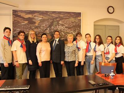 Ruští studenti navštívili turnovskou radnici