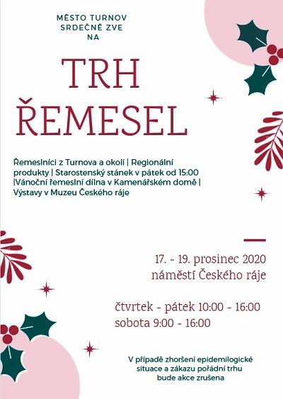 Trh řemesel se v Turnově koná od 17. do 19. prosince