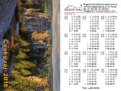 Kalendářík Český ráj 2015 byl oceněn na veletrhu Regiontour