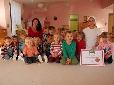 Waldorfská školka získala certifikát v projektu Skutečně zdravá škola
