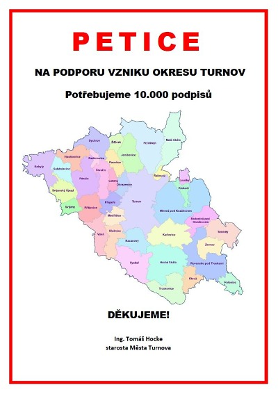 Vznikla petice za zachování ORP Turnov a vznik okresu Turnov