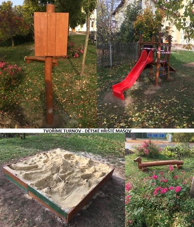 Nové dětské hřiště v Mašově vzniklo díky podpoře občanů