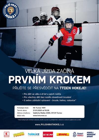 Náborová akce Týden hokeje opět probíhá v Turnově i Lomnici